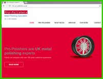 Metal Polishers website design, build and copywrite