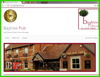 Greene King Pub website, design, buit with bootstrap